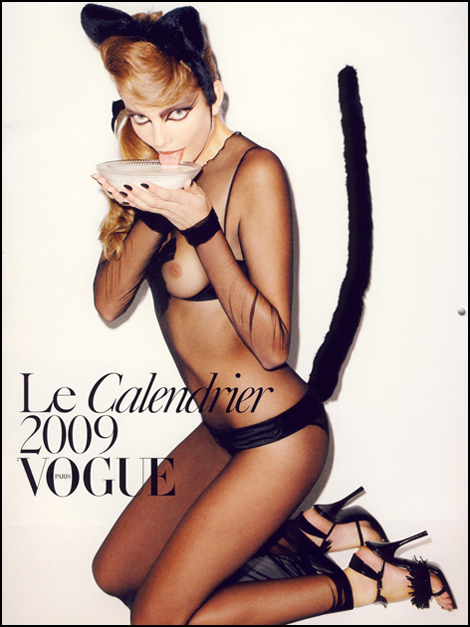 Cover Photo of Eniko Mihalki, Photographer Terry Richardson, and styled by Carine Roitfeld