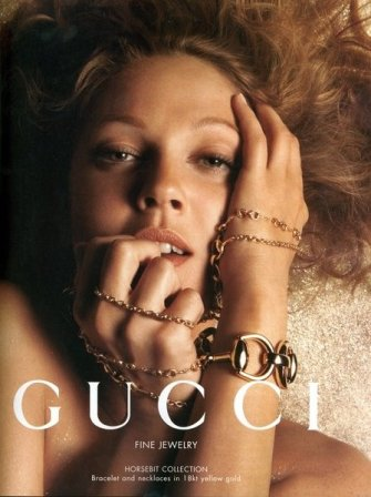 Drew Barrymore for Gucci