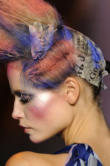 Hair from John Galliano Runway