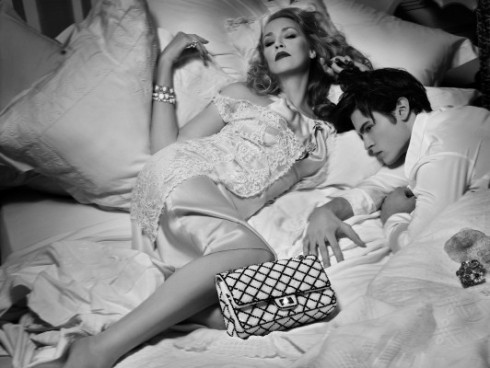 Jerry Hall for Chanel shot by Karl Lagerfeld