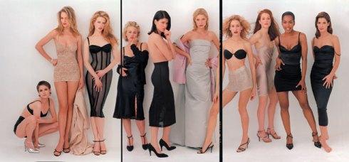 "APRIL 1995: ""HOLLYWOOD HIGHEST—THE CLASS OF 2000"" Jennifer Jason Leigh, Uma Thurman, Nicole Kidman, Patricia Arquette, Linda Fiorentino, Gwyneth Paltrow, Sarah Jessica Parker, Julianne Moore, Angela Bassett, and Sandra Bullock."