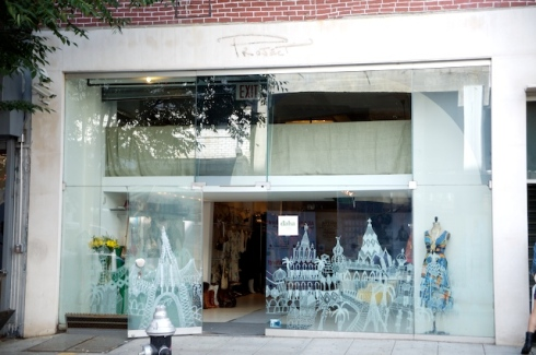 The Front of the store - The window painting is what caught my eye
