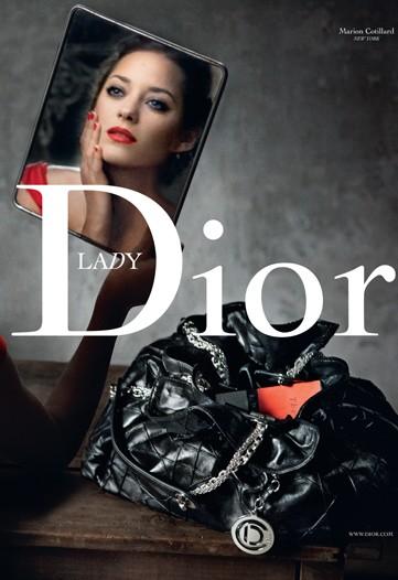 Lady Dior Ad featuring Marion Cotillard. Photo by Annie Leibovitz