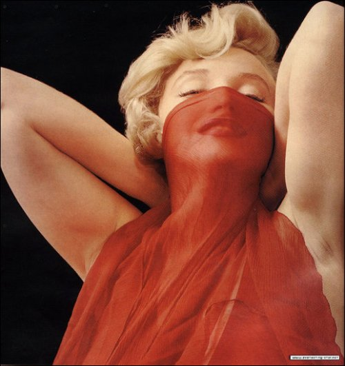 Marilyn Monroe Red Scarf